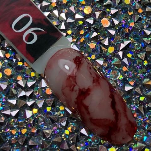 Акварельные капли для росписи №6 (красные), BlooMax,  5 мл