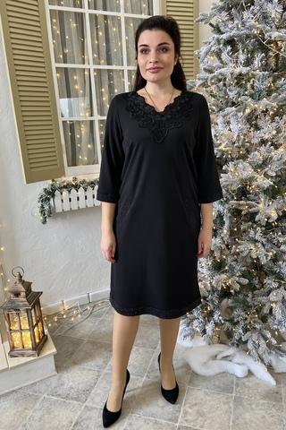 Марселина. Элегантное женское платье. Черный