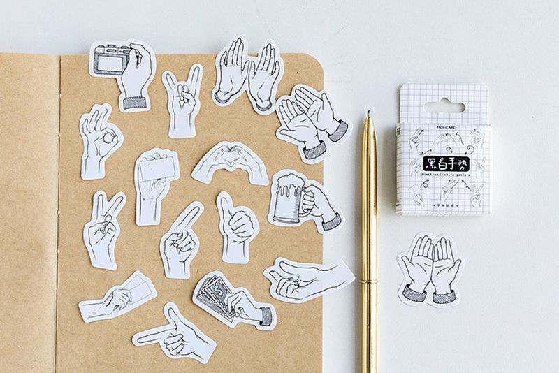 Стикер Нарисованные руки