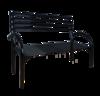 Скамейка со спинкой Беседа-3 (разборная) черный, ЗМИ