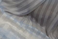 Льняная вуаль - полоска деградэ, цвет : голубая