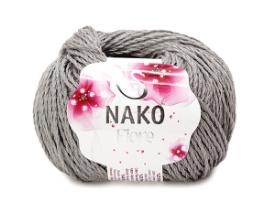 Пряжа Nako Fiore серый 11239