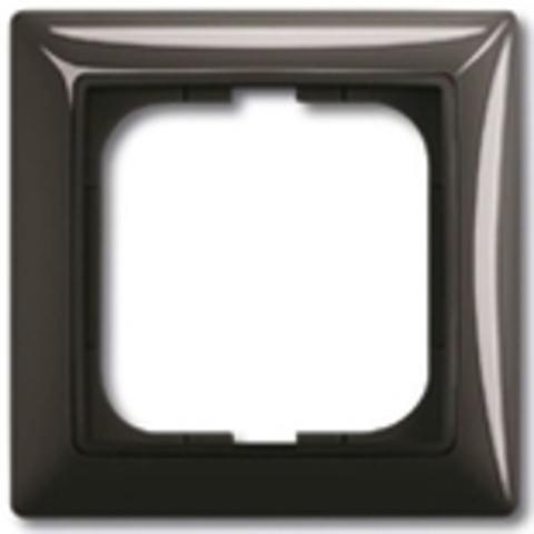 Рамка на 1 пост. Цвет шато-черный. ABB(АББ). Basic 55(Бейсик 55). 1725-0-1506