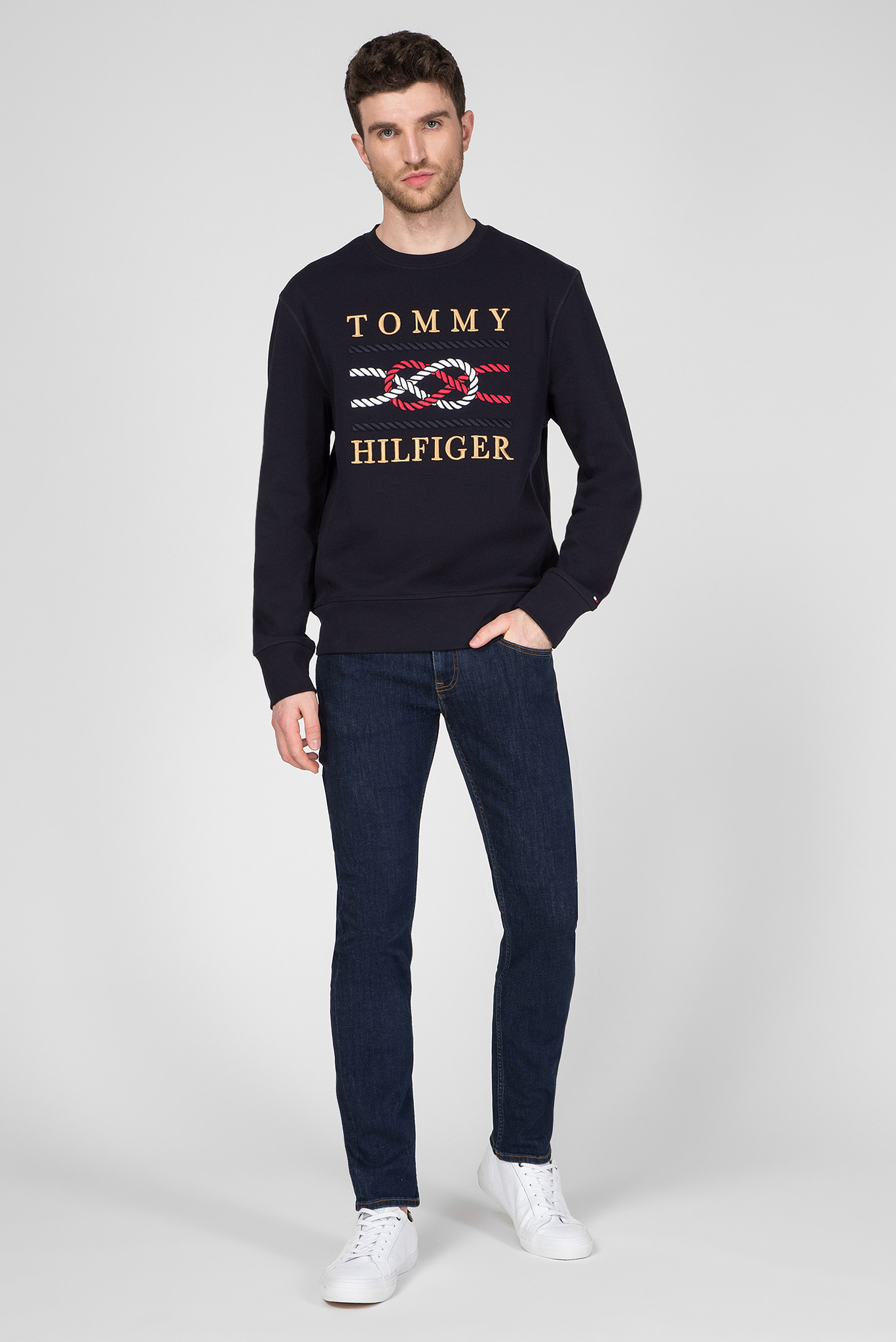 Мужской темно-синий свитшот ICON Tommy Hilfiger