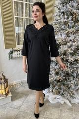 Марселіна. Елегантне жіноче плаття. Чорний