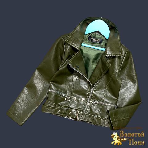 Куртка эко-кожа девочке (5-13) 210524-К74023