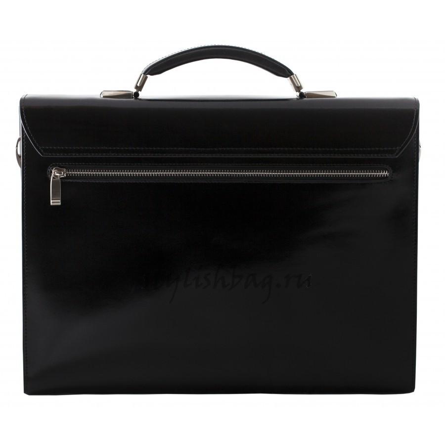 Мужской  классический портфель из кожи Brioni