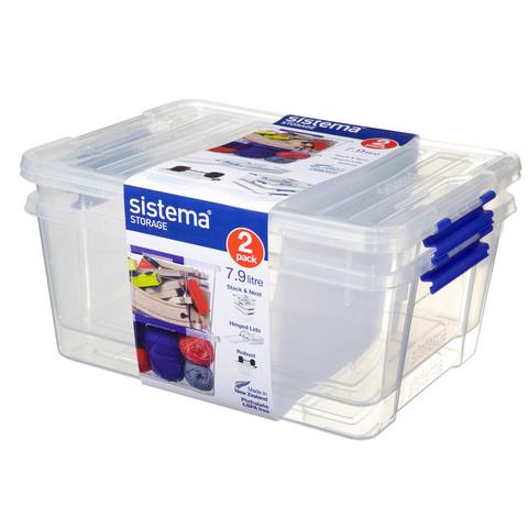 """Набор контейнеров для хранения Sistema """"Storage"""" 7,9 л (2шт.)"""