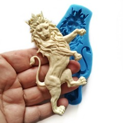 0939 Молд силиконовый. Лев в короне (левый).