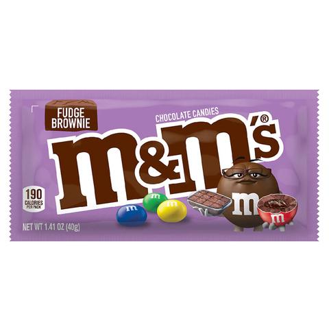 Драже M&M's Fudge Brownie с шоколадной помадкой, 40 г