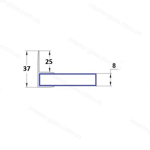 Уплотнительный профиль для душевых кабин HDL-214