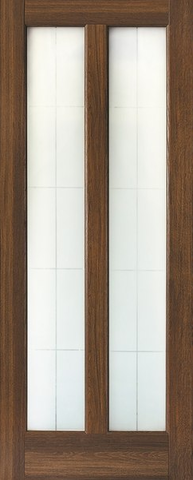 Дверь Ладора 2/5, цвет дуб коричневый, остекленная