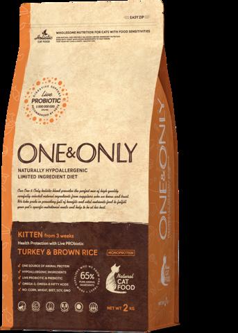Сухой корм One&Only Turkey & Brown Rice Kitten