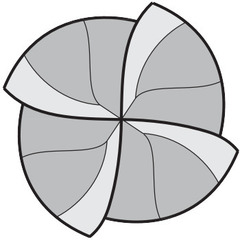 Фреза твердосплавная сферическая HPC TiAlN