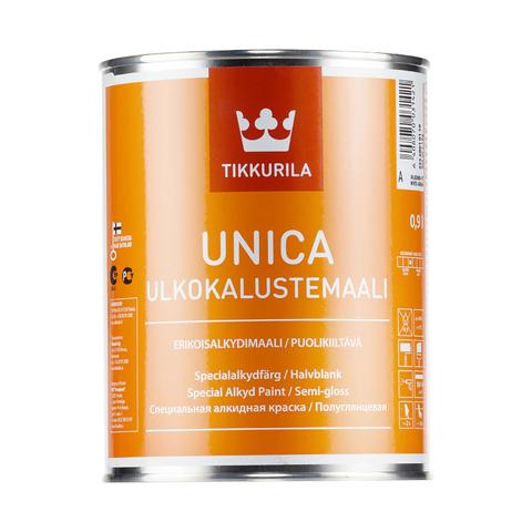 Tikkurila Unica Ulkokalustemaali/Тиккурила Уника Улкокалустэмаали полуглянцевая алкидная краска для металла,дерева и пластика