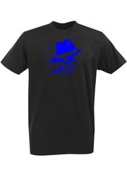 Футболка с однотонным принтом Череп (Скелет) черная 00142
