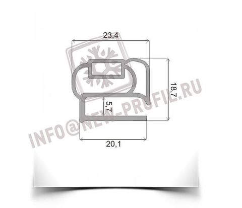 Уплотнитель для морозильника Бирюса 145 размер 1340*550 мм(013/014)