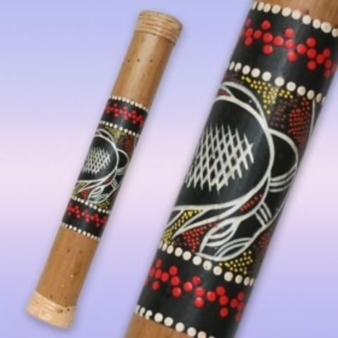 Посох дождя   Бамбук роспись