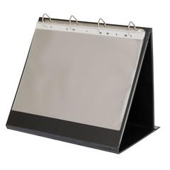 Папка-флипчарт на 4-х кольцах 30 мм черная до 250 листов