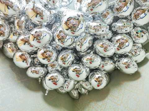 Фольгированные круги серебро