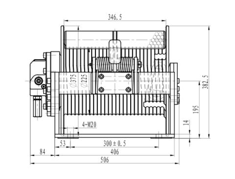 Эвакуационная лебедка IYJ2.52.5-25-122-12-ZPND