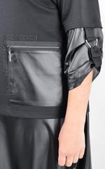 Фаина. Платье объемного кроя большого размера. Черный.