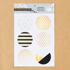 Набор ацетатных разделителей для планера «Чёрно‒белое настроение», 6 листов, 16 × 25 см
