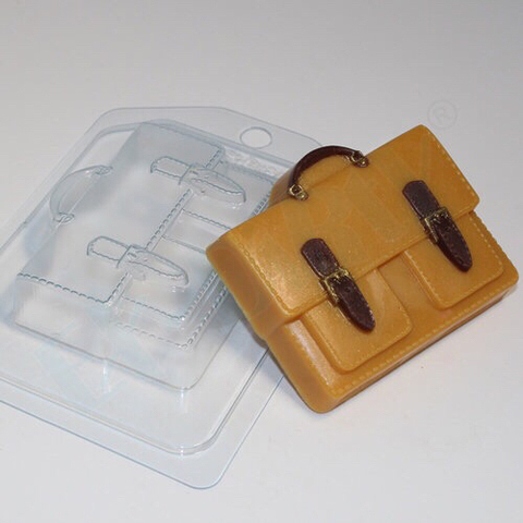 Пластиковая форма для шоколада муж. ПОРТФЕЛЬ С 2мя карманами 70х85мм