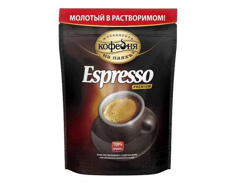 купить Кофе растворимый Московская Кофейня на Паяхъ Espresso с молотым кофе, 95 г пакет