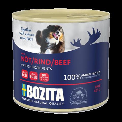 Bozita Beef Консервы для собак мясной паштет с говядиной (железная банка)