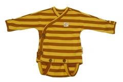 Боди-кимоно ManyMonths ECO 50-56/62 см, Коричневые/Желтые полосы