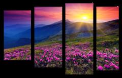 """Модульная картина """"Рассвет в горах"""""""