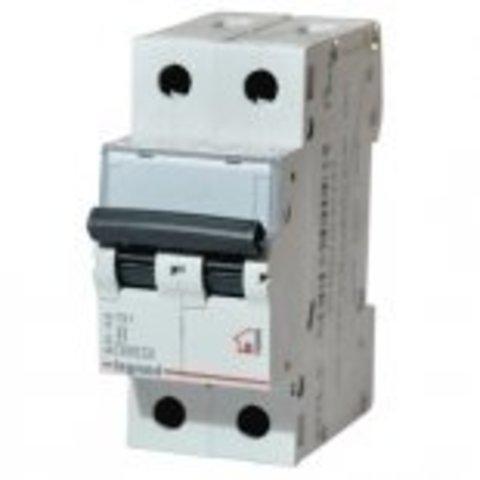 Автоматический выключатель двухполюсный TX 6000 - 6 кА - тип характеристики С - 2П - 230/400 В~ - 50 А - 2 модуля. Legrand (Легранд). 404047