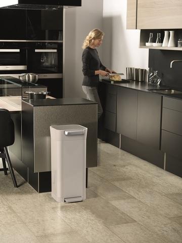 Контейнер для мусора с прессом Titan 20 л серый