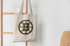 Сумка-шоппер с принтом Бостон Брюинз (NXL Boston Bruins) бежевая 001