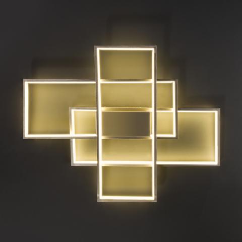 Потолочный светодиодный светильник 90177/3 сатин-никель