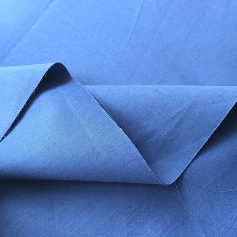 Ткань хлопок сорочечный синий 2068