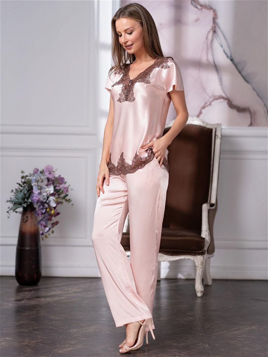 шелк натуральный Комплект женский шелковый с брюками Mia-Amore   MARILIN Мэрилин  3106 3106.6.jpg
