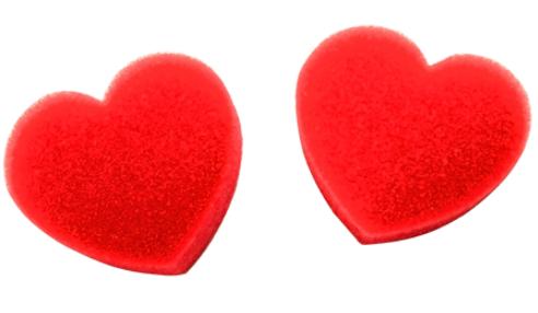 Поролоновые губки - (спонджи) 2 маленьких сердца