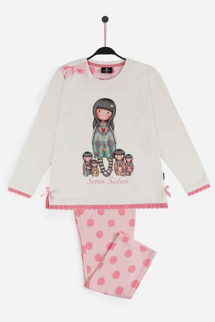 Пижама для девочек с брюками SANTORO (Испания) SEVEN SISTERS 54655