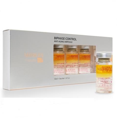 Мезо сыворотка MATRIGEN BIPHASE Anti –aging  1 упаковка 5 ампул по 10 мл.