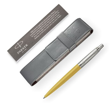 Подарочный набор с чехлом и Шариковая ручка Parker Jotter 125th K173, цвет: Yellow123