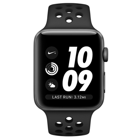 Watch S4 Nike+ Cellular 40mm Space Gr Al/Bl Nike Band