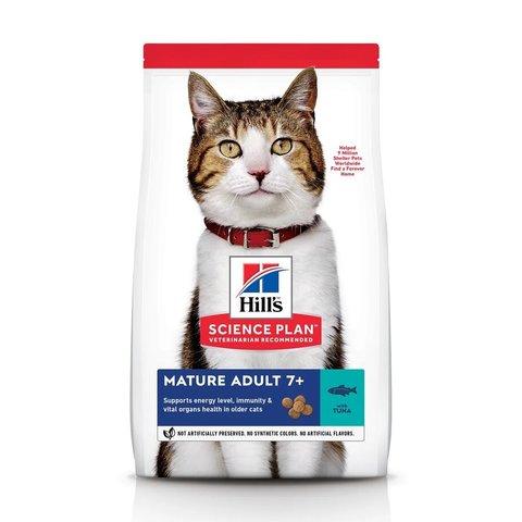 Сухой корм Hill's Science Plan для пожилых кошек (7+) для поддержания здоровья в период старения, с тунцом