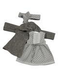 Пальто и платье - Серый. Одежда для кукол, пупсов и мягких игрушек.