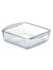Форма для запекания жаропрочная стеклянная квадратная 1 литр Borcam 59854 лоток с ручками квадратный 21х16х5,5 см коробка
