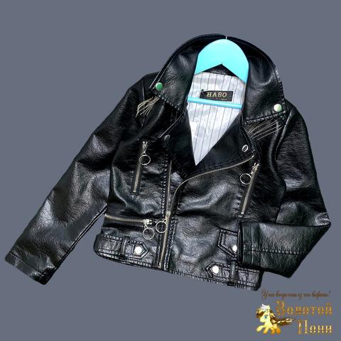 Куртка эко-кожа девочке (5-13) 210524-К74024