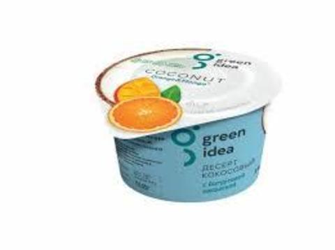 Green idea десерт кокосовый с йогуртовой закваской и соками апельсина и манго 140 г