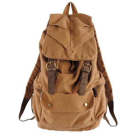 Классический винтажный рюкзак S.C.Cotton Khaki
