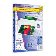 Пленка для ламинирования ProfiOffice 303x216 мм (А4) 100 мкм глянцевая (100 штук в упаковке)